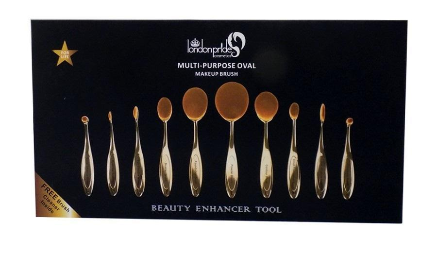 silver london pride oval brush collection boxed