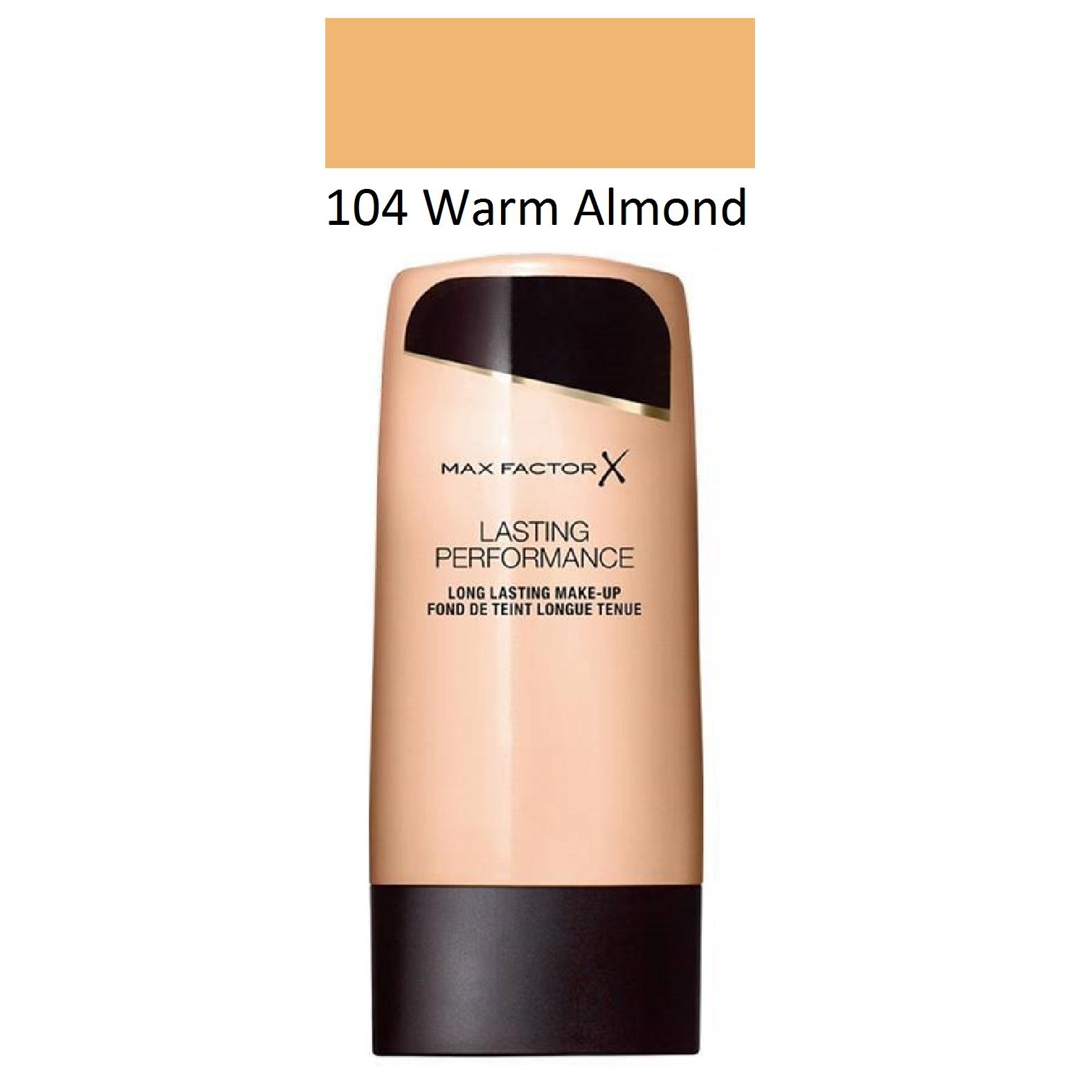 Max Factor Lasting Performance Foundation 104 Warm Almond