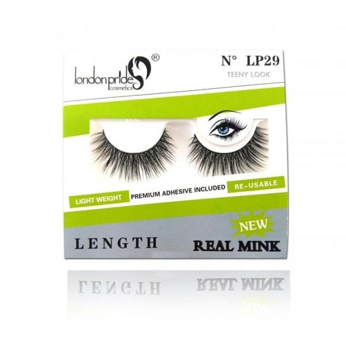London Pride Cosmetics Real Mink False Eyelashes - LP29 Teeny Look