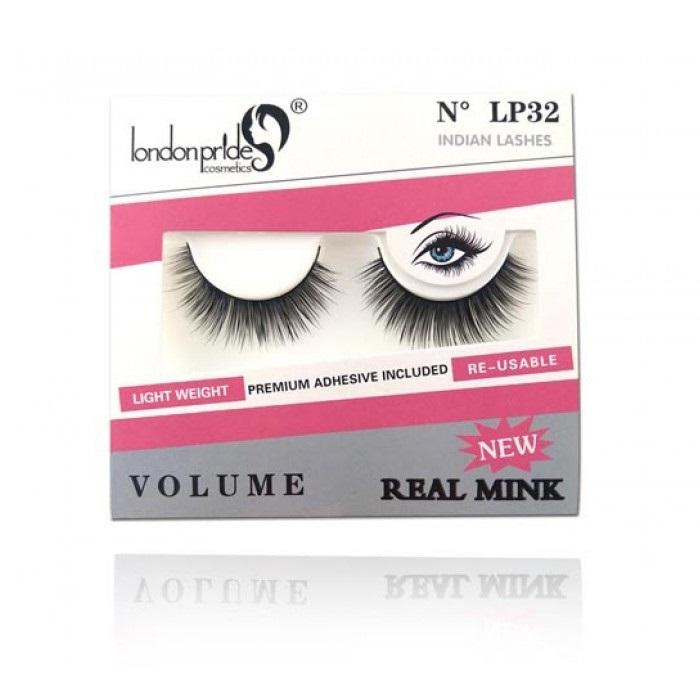London Pride Cosmetics Real Mink False Eyelashes - LP32 Indian Lashes