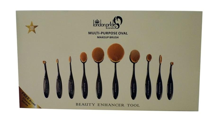 black london pride makeup brush set