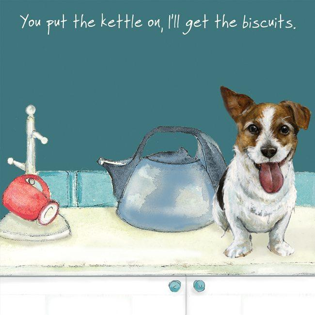 Little Dog Laughed Greetings Card