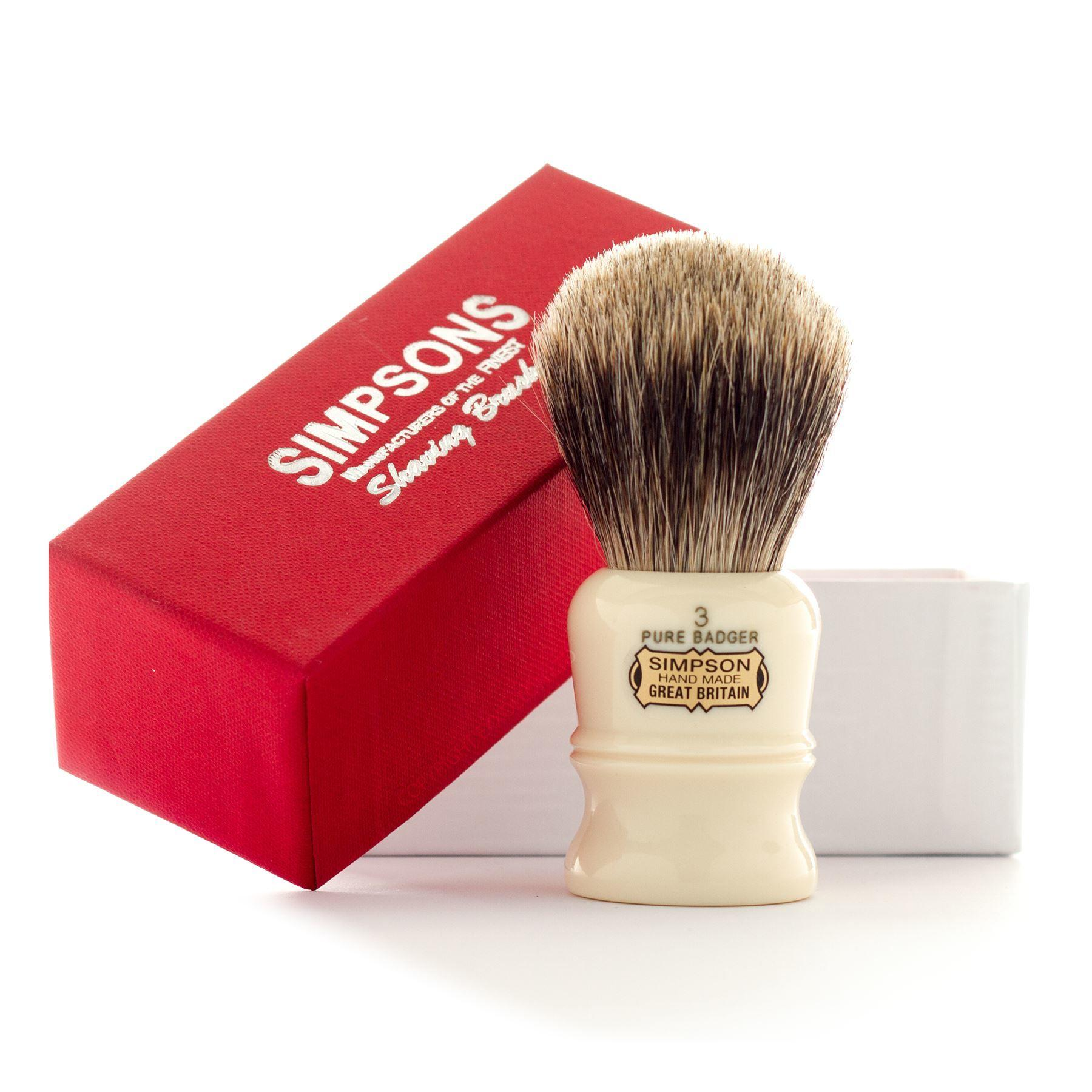 Simpsons Duke D3 Pure Badger Hair Shaving Brush