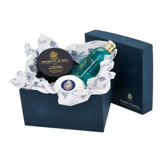 Truefitt & Hill Trafalgar Bathroom Gift Set (Shaving Cream, Round Soap & Shower Gel)