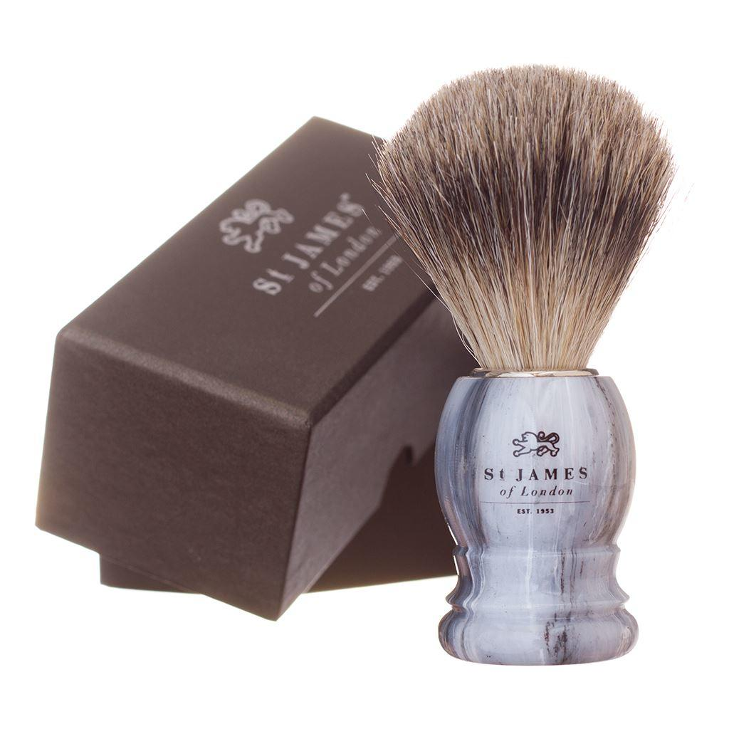 St James of London Castlerock Super Badger Hair Shaving Brush