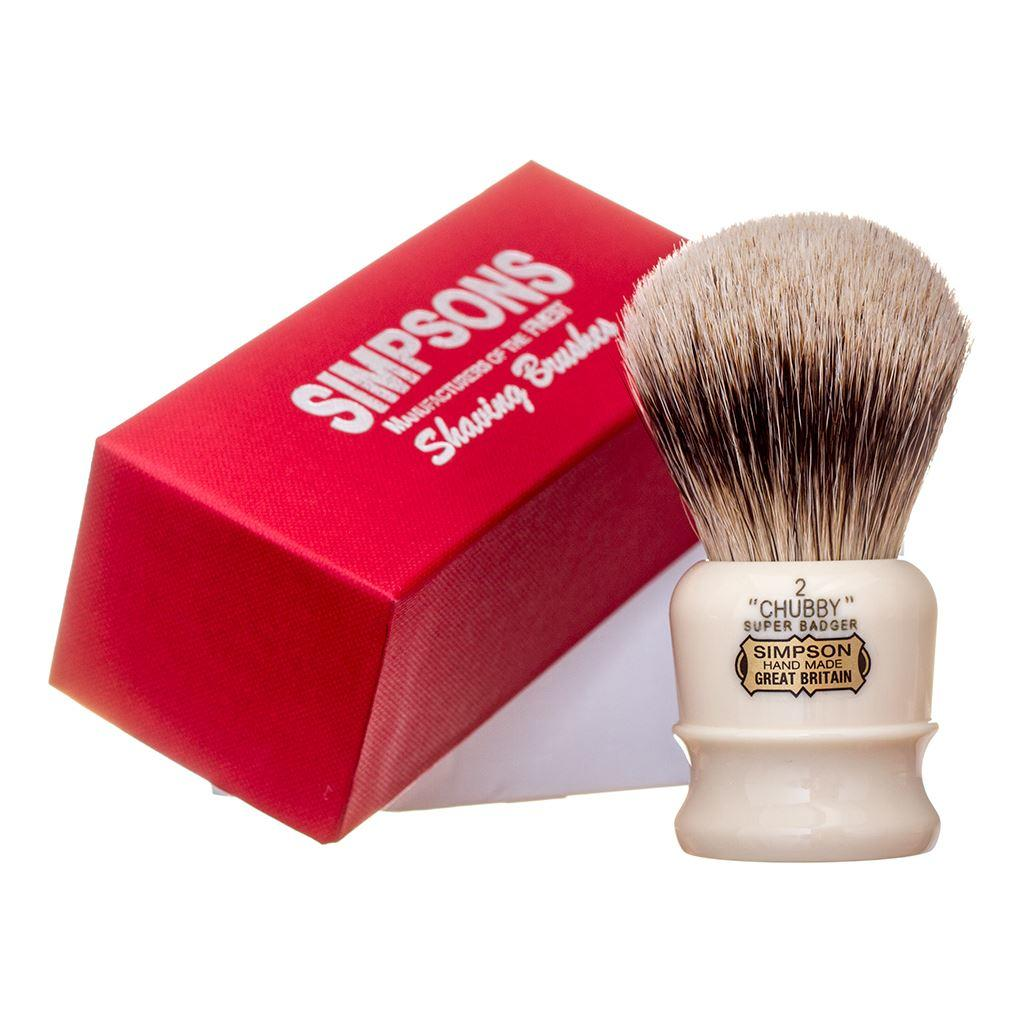 Simpsons Chubby CH2 Super Badger Hair Shaving Brush