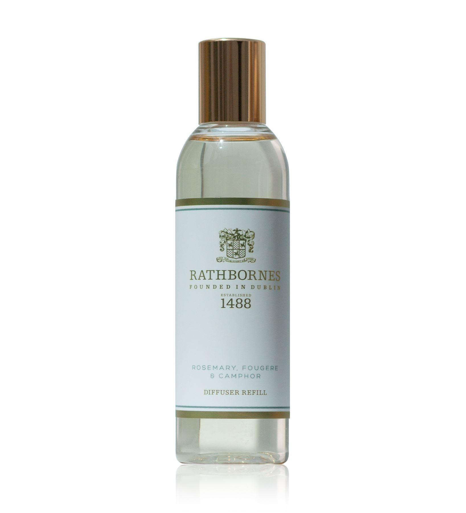 Rathbornes 1488 Rosemary, Fougere & Camphor Scented Reed Diffuser Refill Oil