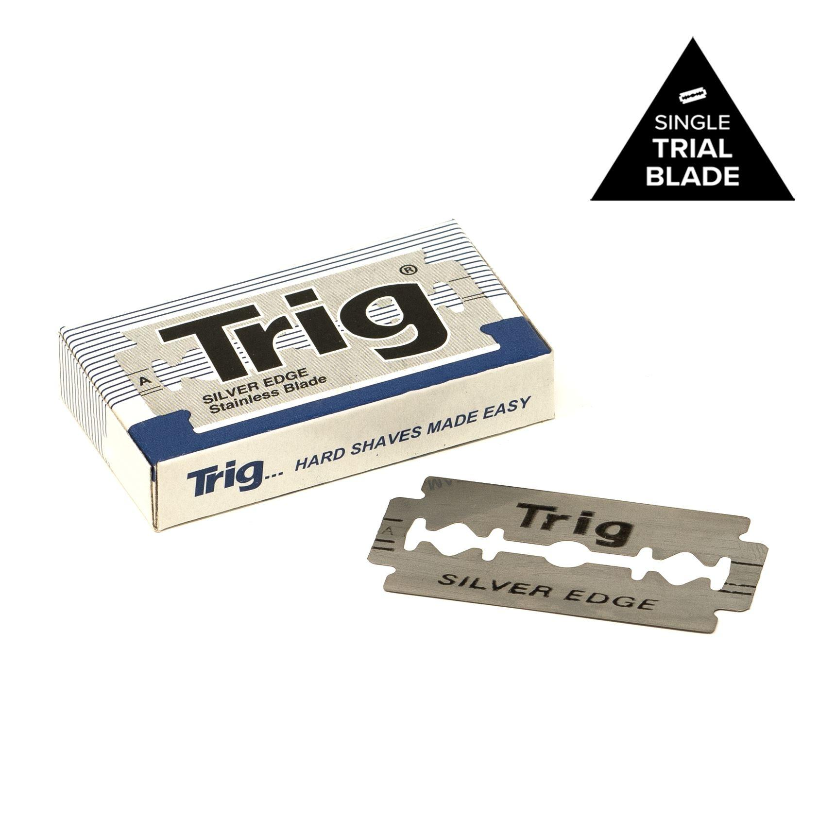 Treet Trig Silver Edge Stainless Double Edge Sample Razor Blade