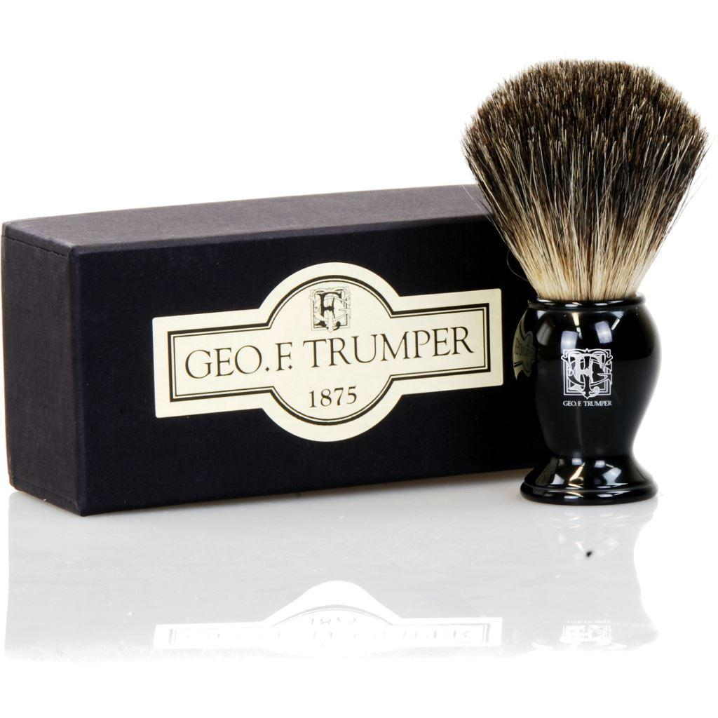 Geo F Trumper Black Pure Badger Bristle Shaving Brush