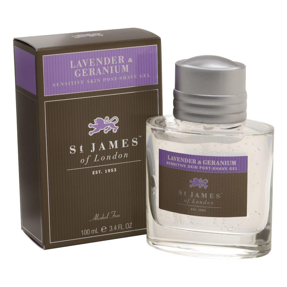 St James of London Unscented, Lavender & Geranium Large Post Shave Gel