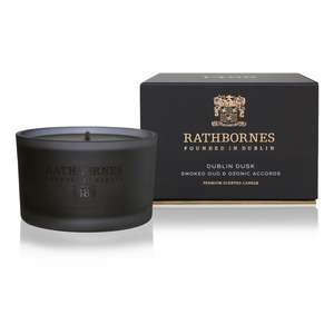 Rathbornes 1488 Dublin Dusk Smoked Oud & Ozonic Accords Scented Travel Candle