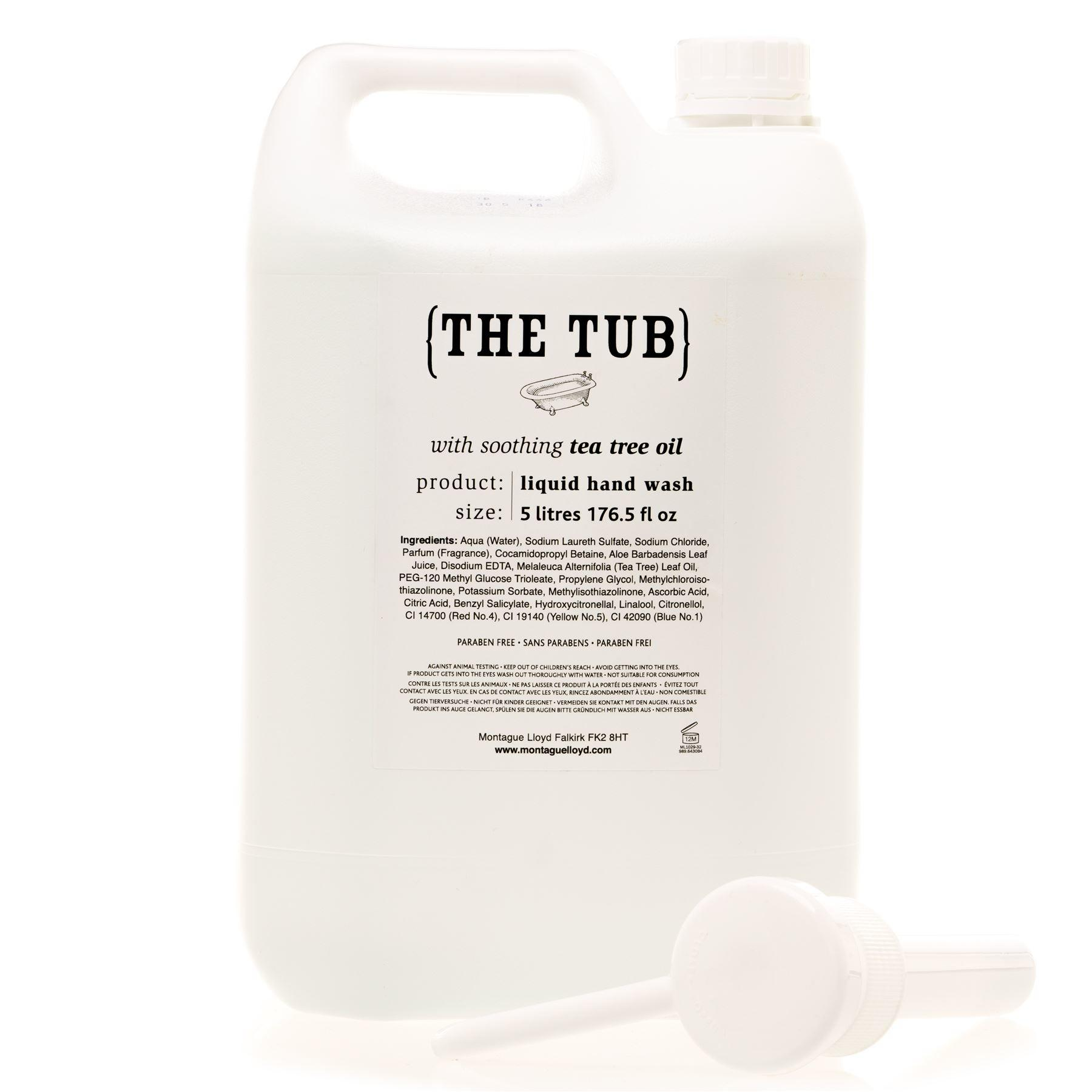 Montague Lloyd Commercial 'The Tub' Soothing Tea Tree Oil Hand Wash Refill with Pump Dispenser