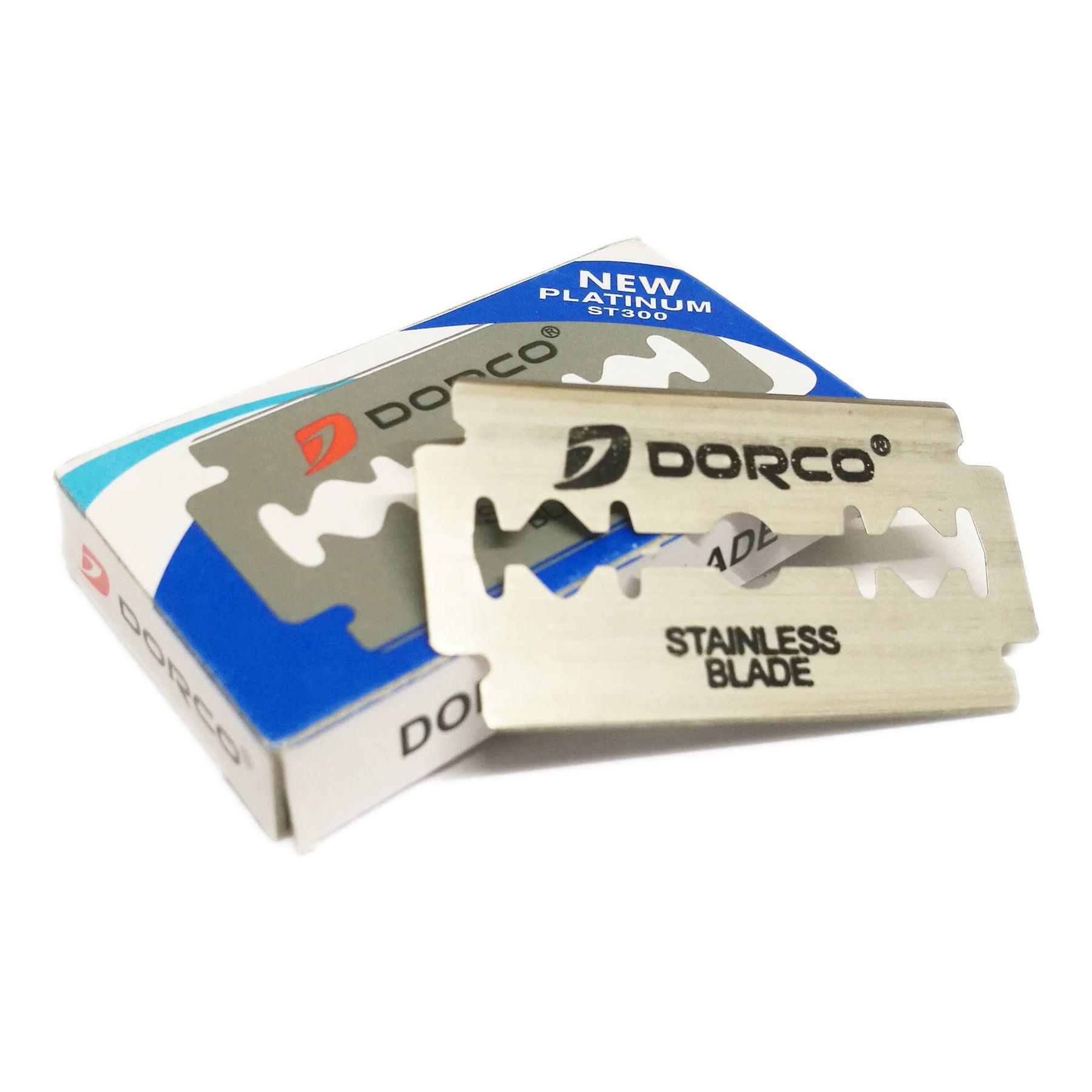Dorco Platinum ST300 Double Edged Safety Razor Blades (10 Blades)