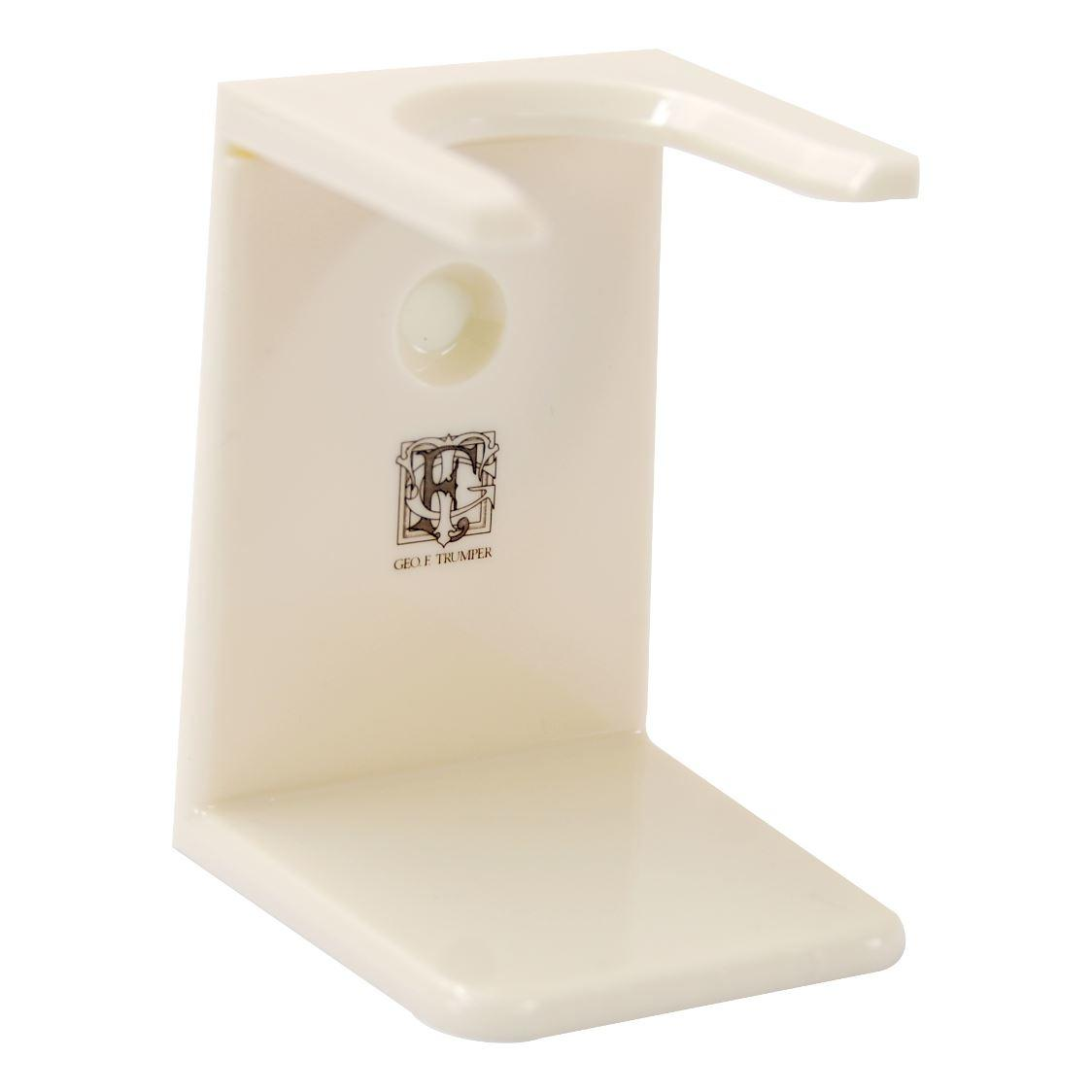 Geo F Trumper Simulated Ivory Shaving Brush Drip Stand