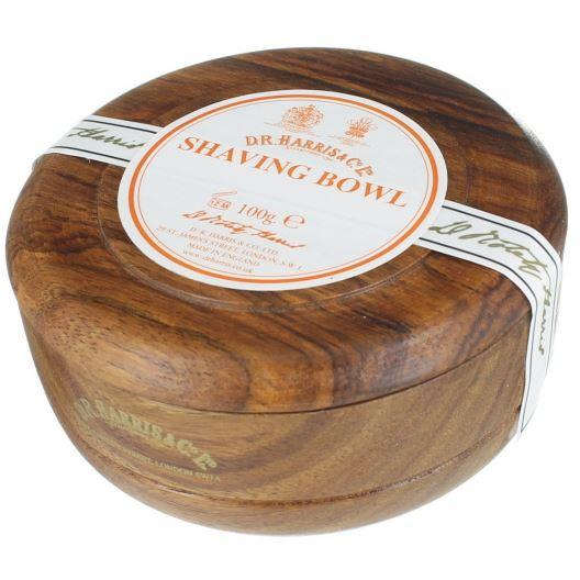 DR Harris & Co Windsor Shave Soap with Mahogany Wooden Bowl