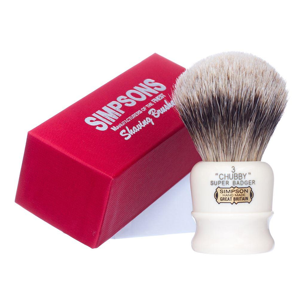 Simpsons Chubby CH3 Super Badger Hair Shaving Brush