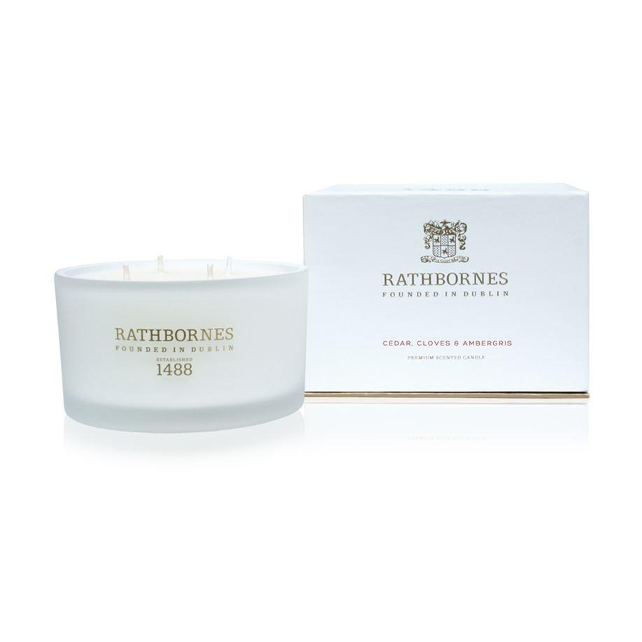 Rathbornes 1488 Cedar, Cloves & Ambergris Scented Luxury 4 Wick Candle