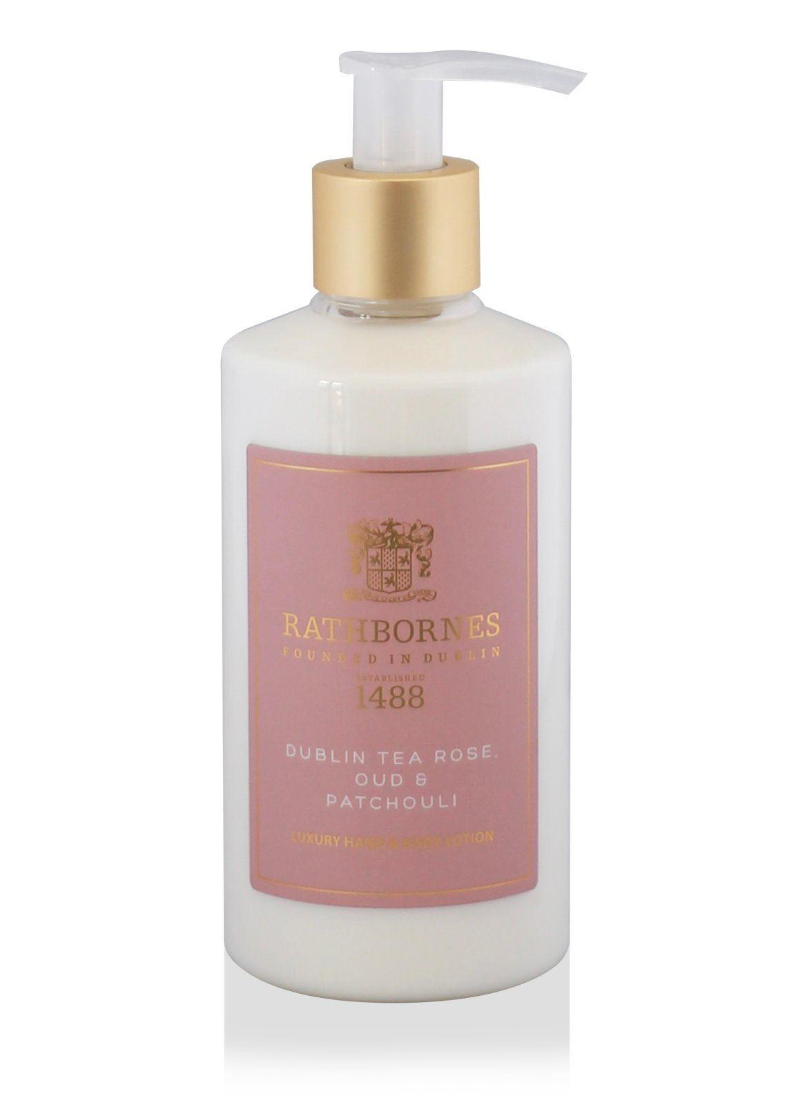 Rathbornes 1488 Dublin Tea Rose, Oud and Patchouli Hand & Body Lotion