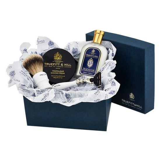 Truefitt & Hill Sandalwood Luxury Shaving Gift Set with Bowl, Balm, Razor & Brush
