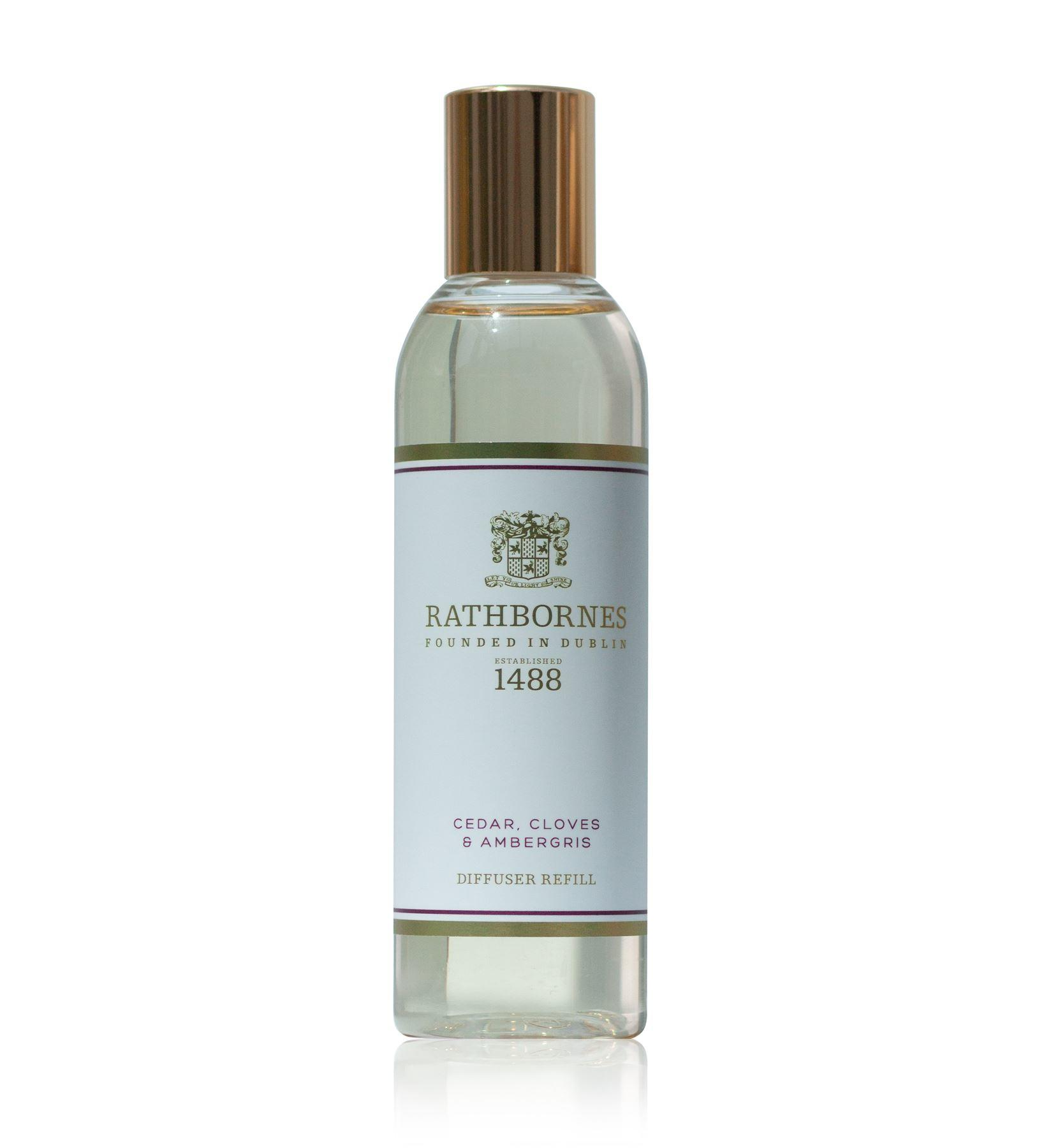 Rathbornes 1488 Cedar, Cloves & Ambergris Scented Reed Diffuser Refill Oil