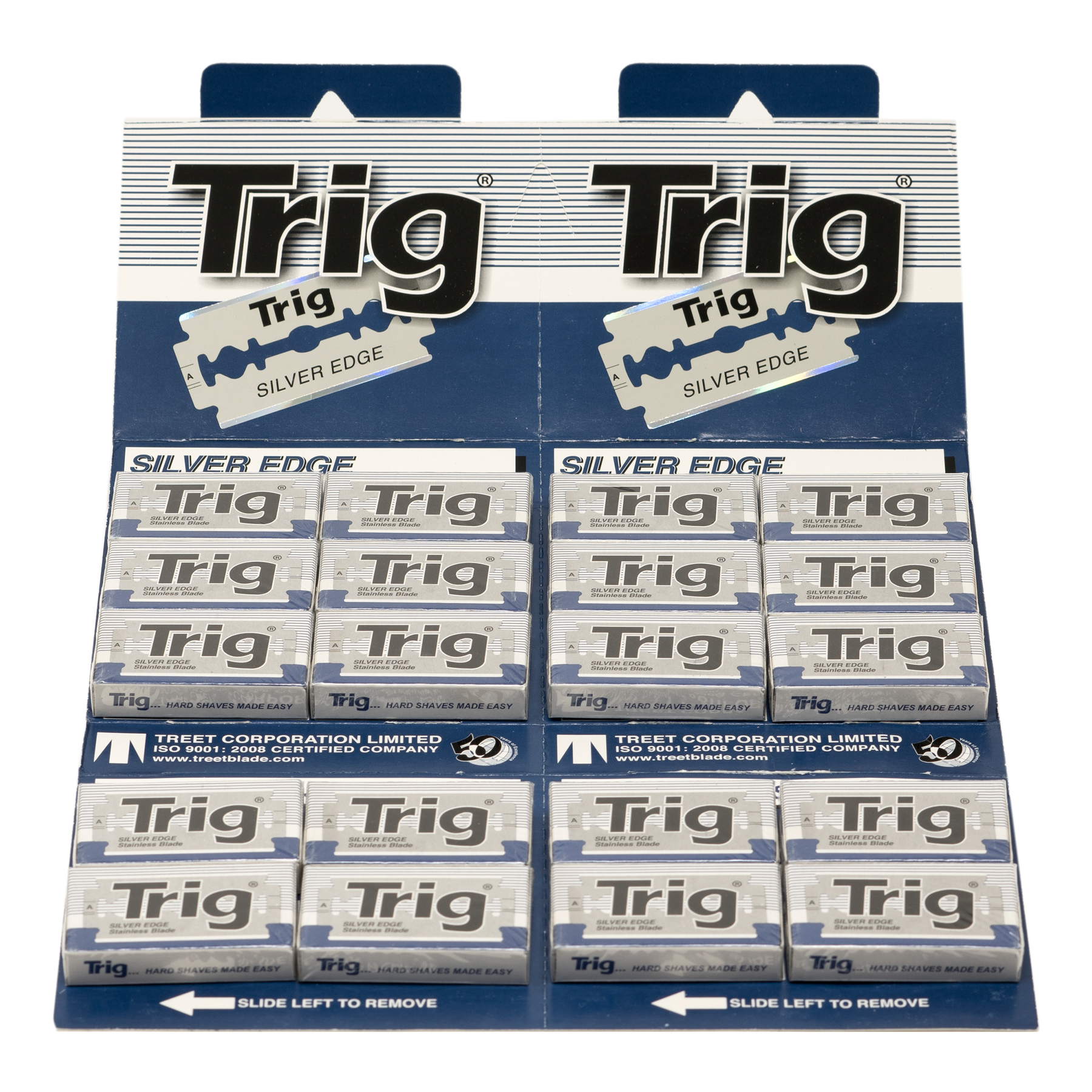 Treet Trig Silver Edge Stainless Double Edge Razor Blade (Pack of 200 Blades)