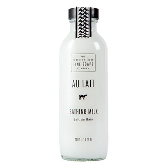 Scottish Fine Soaps Au Lait Moisturising Bathing Milk in Glass Bottle