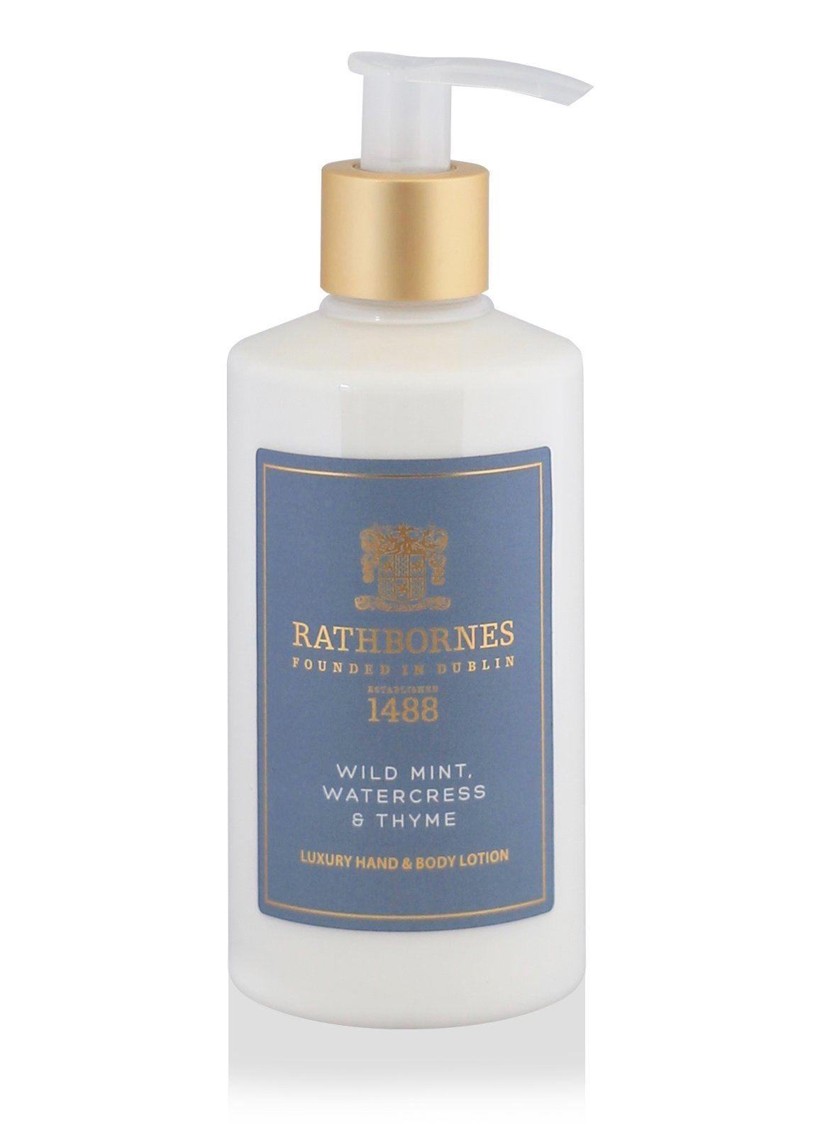 Rathbornes 1488 Wild Mint, Watercress and Thyme Hand & Body Lotion