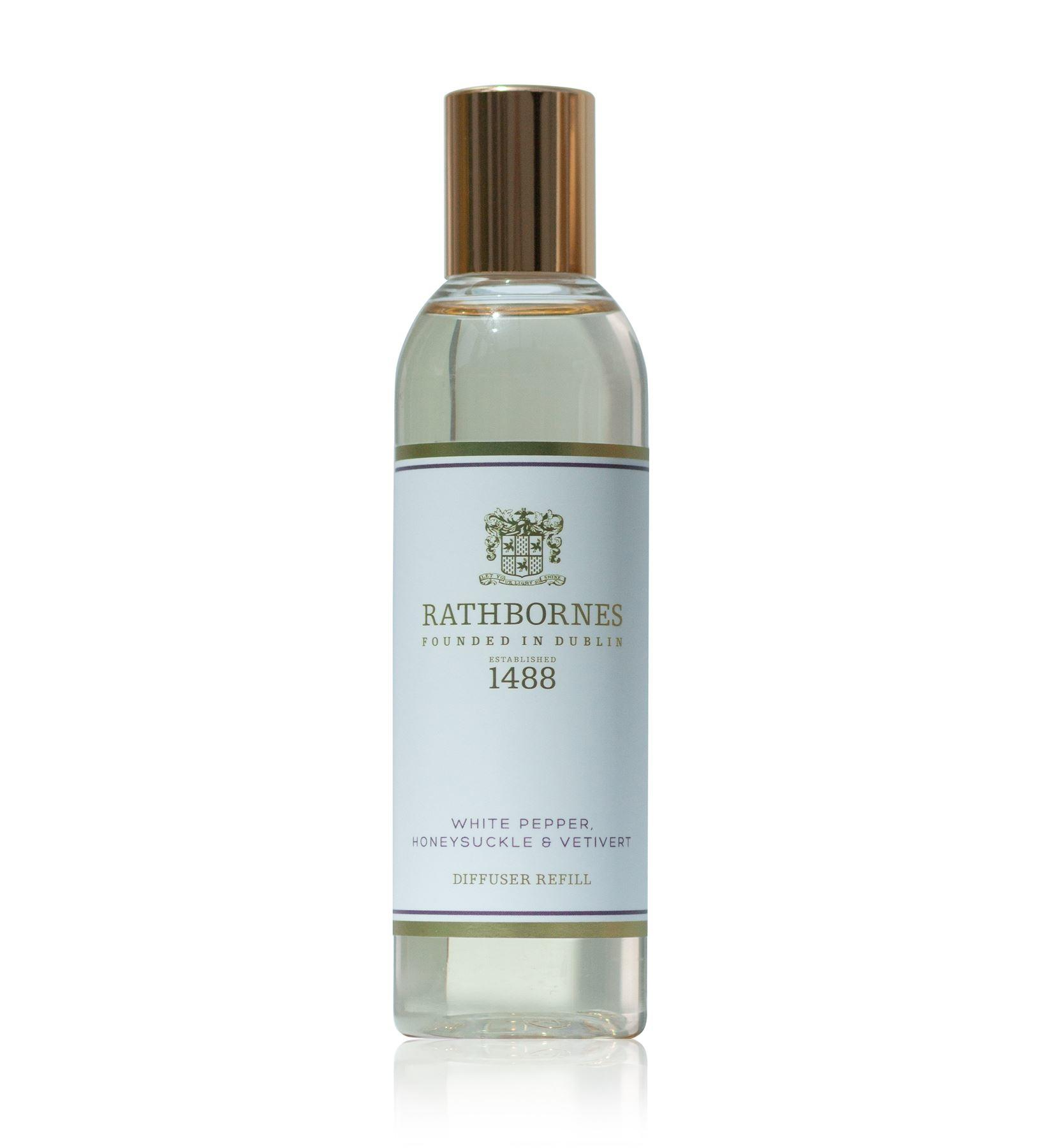 Rathbornes 1488 White Pepper, Honeysuckle & Vertivert Reed Diffuser Refill Oil