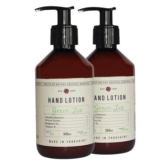 Fikkerts Luxury Green Tea & Bergamot Oil Hand Lotion Twin Pack