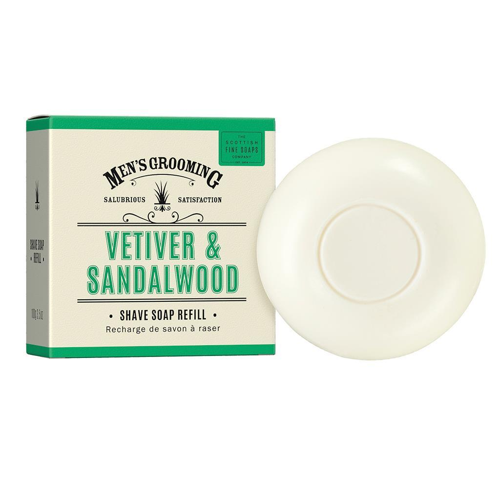 Scottish Fine Soaps Vetiver & Sandalwood Shaving Soap Refill (100g)
