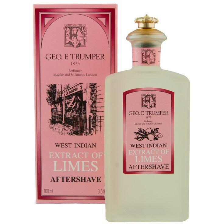 Geo F Trumper West Indian Limes Aftershave with Crown Topped Splash Bottle