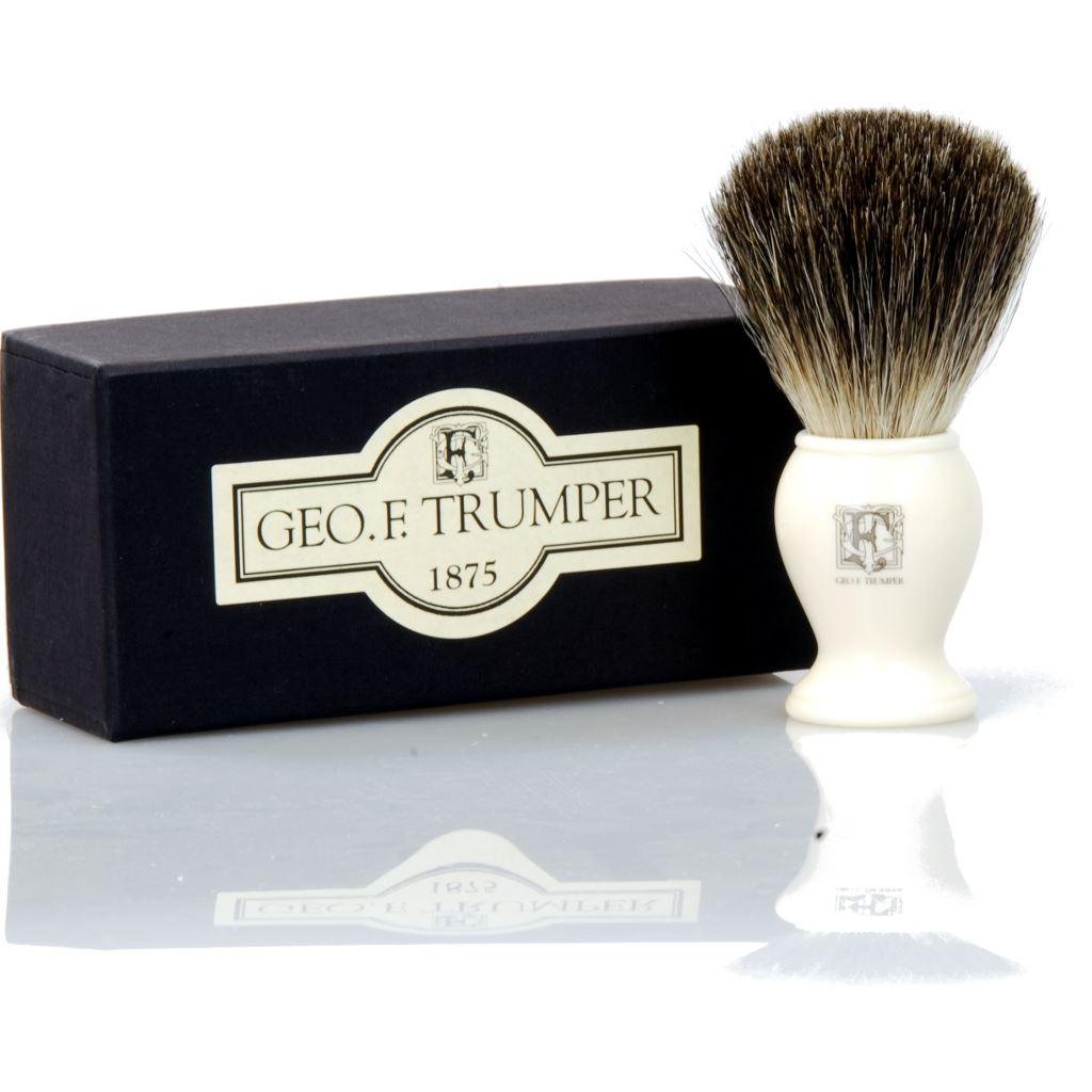 Geo F Trumper Imitation Ivory Pure Badger Bristle Shaving Brush