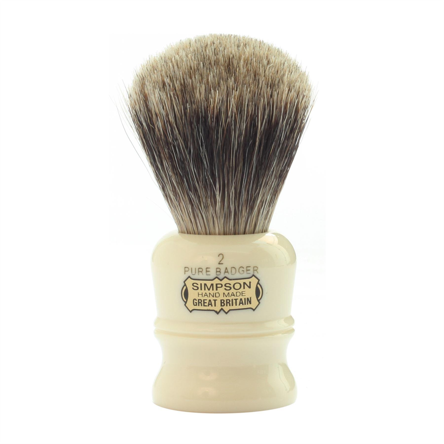 Simpsons Duke D2 Pure Badger Hair Shaving Brush