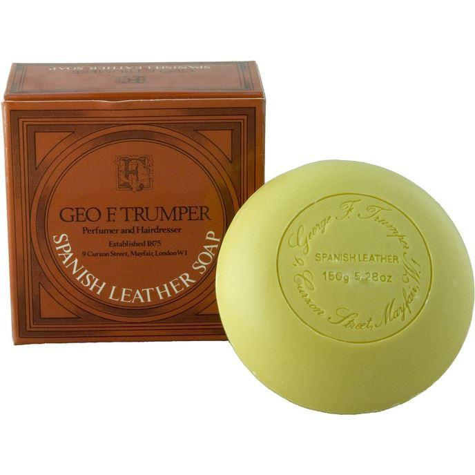 Geo F Trumper Spanish Leather Round Tablet Bath Soap