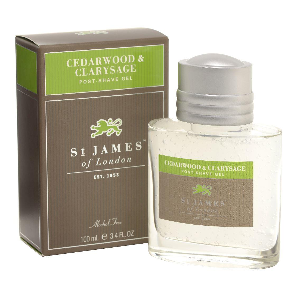 St James of London Cedarwood & Clarysage Post Shave Gel