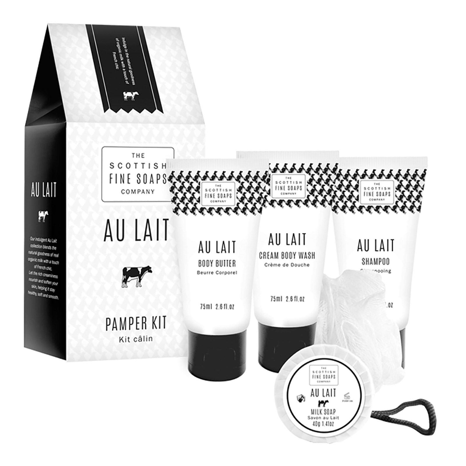 Scottish Fine Soaps Au Lait Pamper Kit Gift Set
