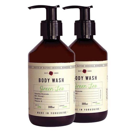 Fikkerts Luxury Green Tea & Bergamot Oil Body Wash Twin Pack