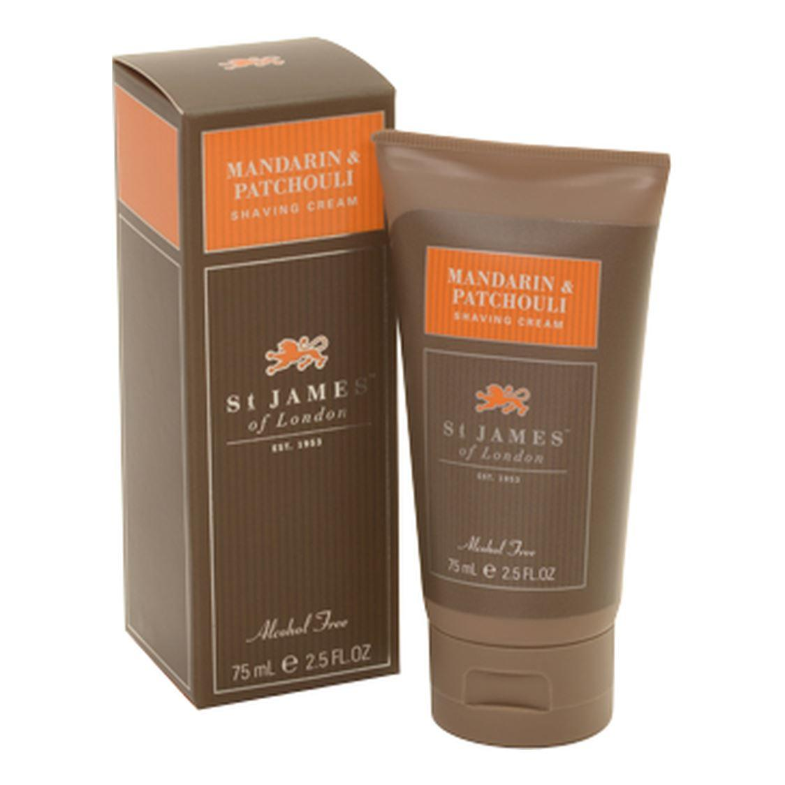 St James of London Mandarin & Patchouli Shaving Cream Tube