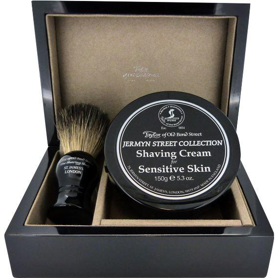 Taylor of Old Bond Street Jermyn Street Shaving Cream & Brush in Wooden Gift Box