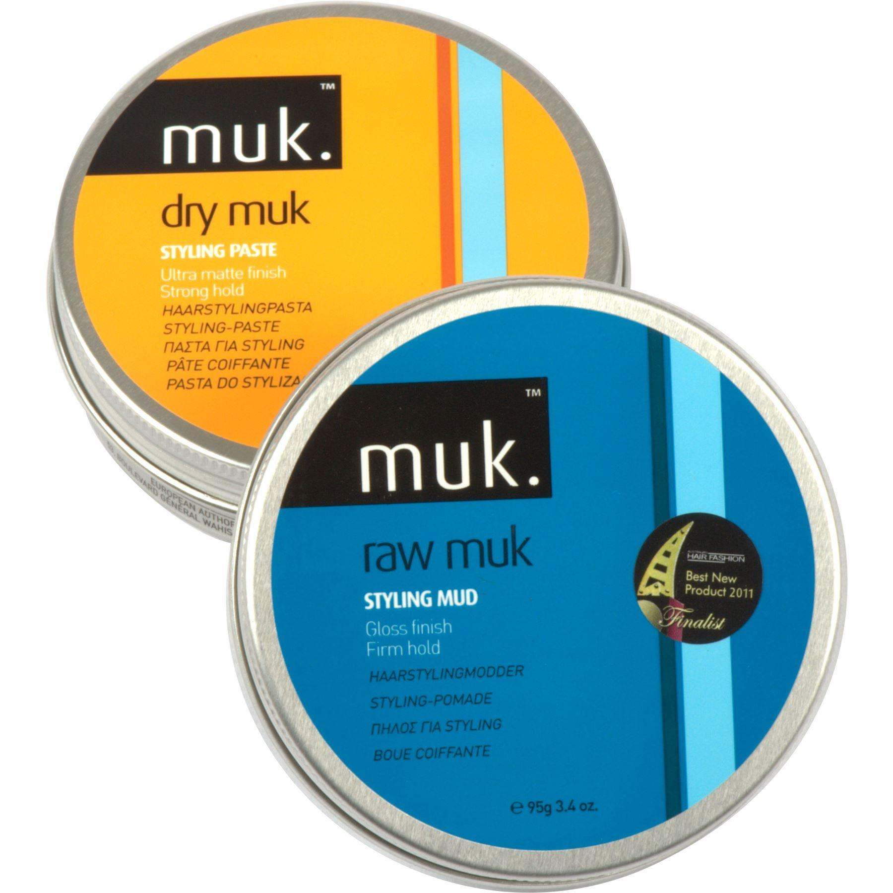 Raw MUK & Dry MUK Large Hair Styling Combo Pack