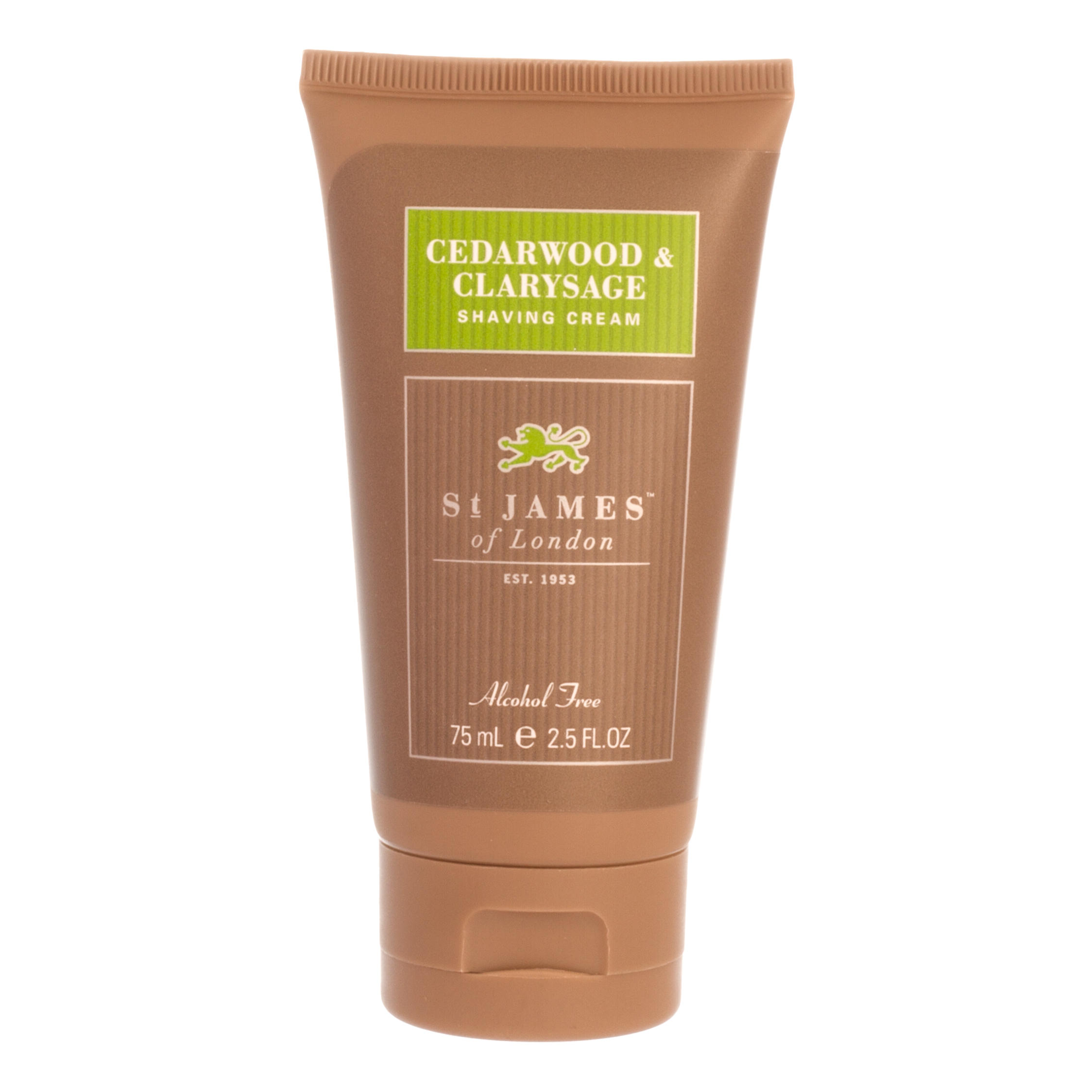 St James of London Cedarwood & Clarysage Shaving Cream Tube