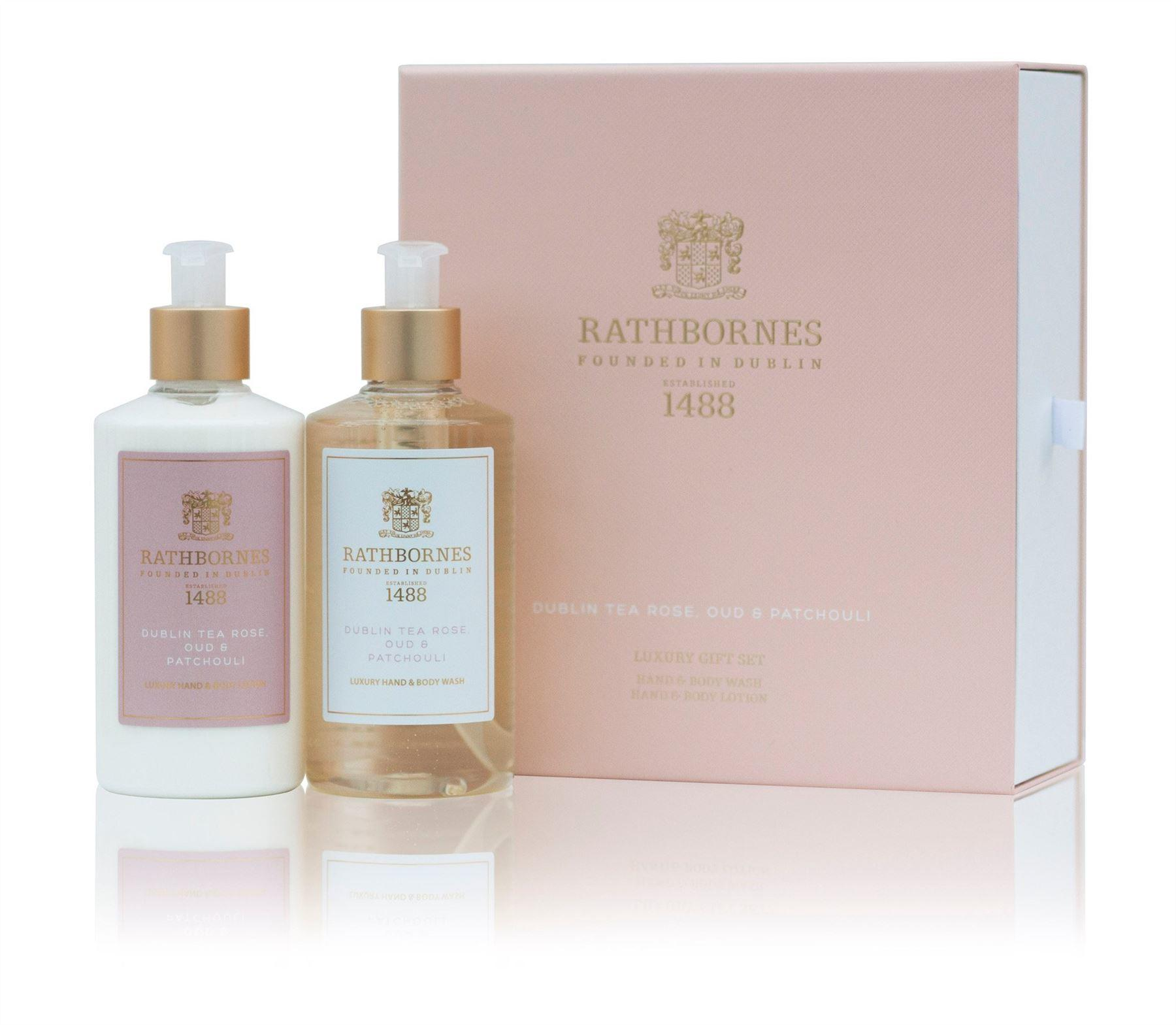 Rathbornes 1488 Dublin Tea Rose Hand & Body Gift Set (Hand/Body Wash & Lotion)