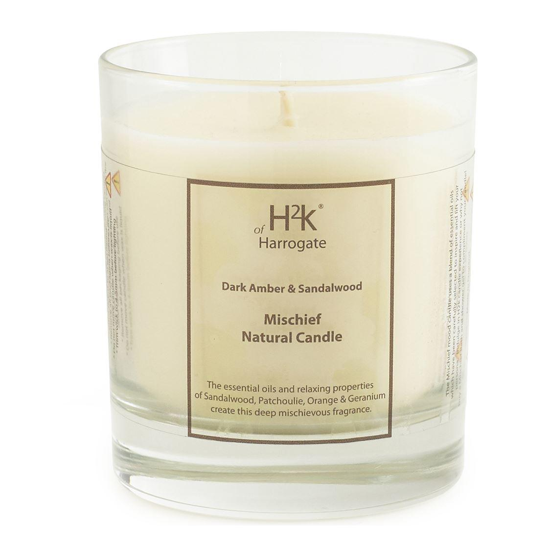 H2k of Harrogate Pure Indulgence Sandalwood and Dark Amber Candle