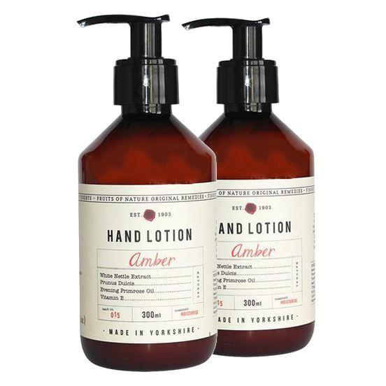 Fikkerts Luxury Wooded Amber & Citrus Hand Lotion Twin Pack