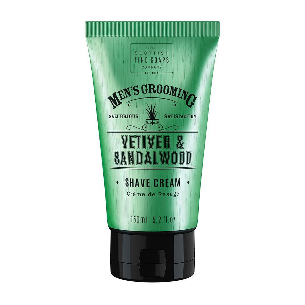 Scottish Fine Soaps Vetiver & Sandalwood Shave Cream (150ml)