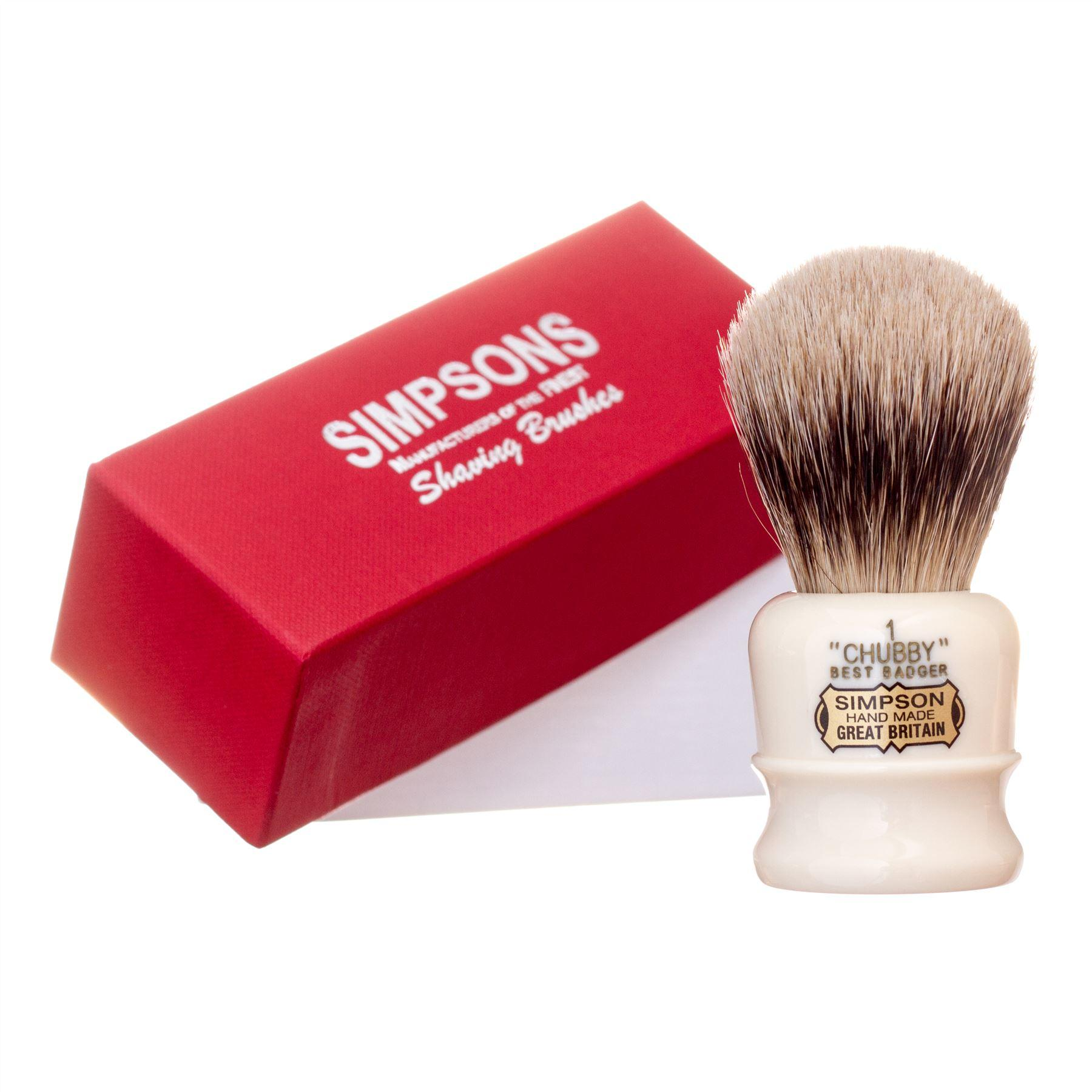 Simpsons Chubby CH1 Best Badger Hair Shaving Brush