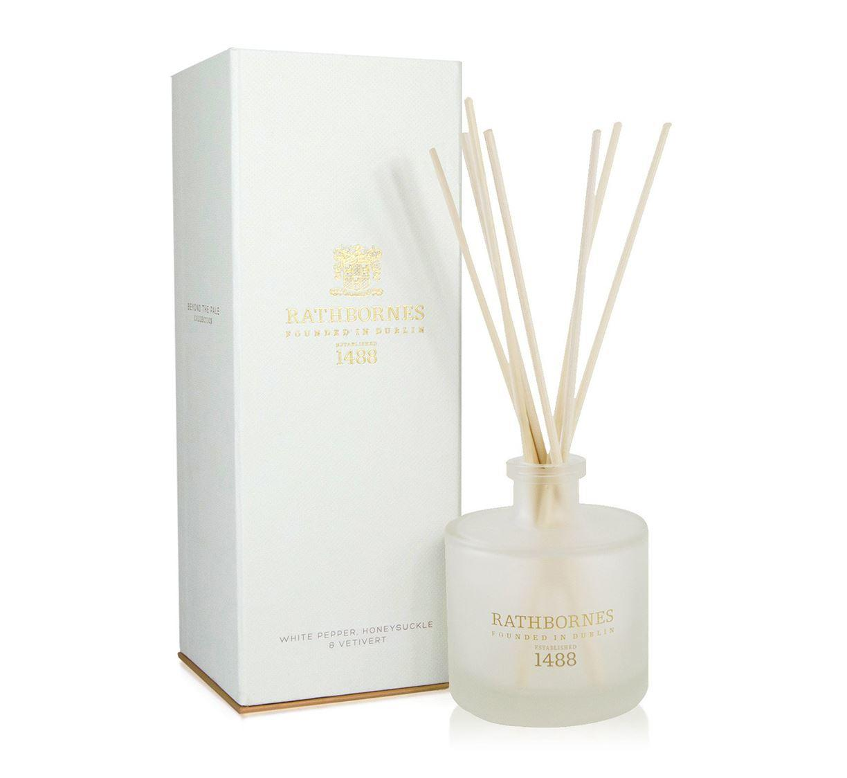 Rathbornes 1488 White Pepper, Honeysuckle & Vertivert Reed Diffuser