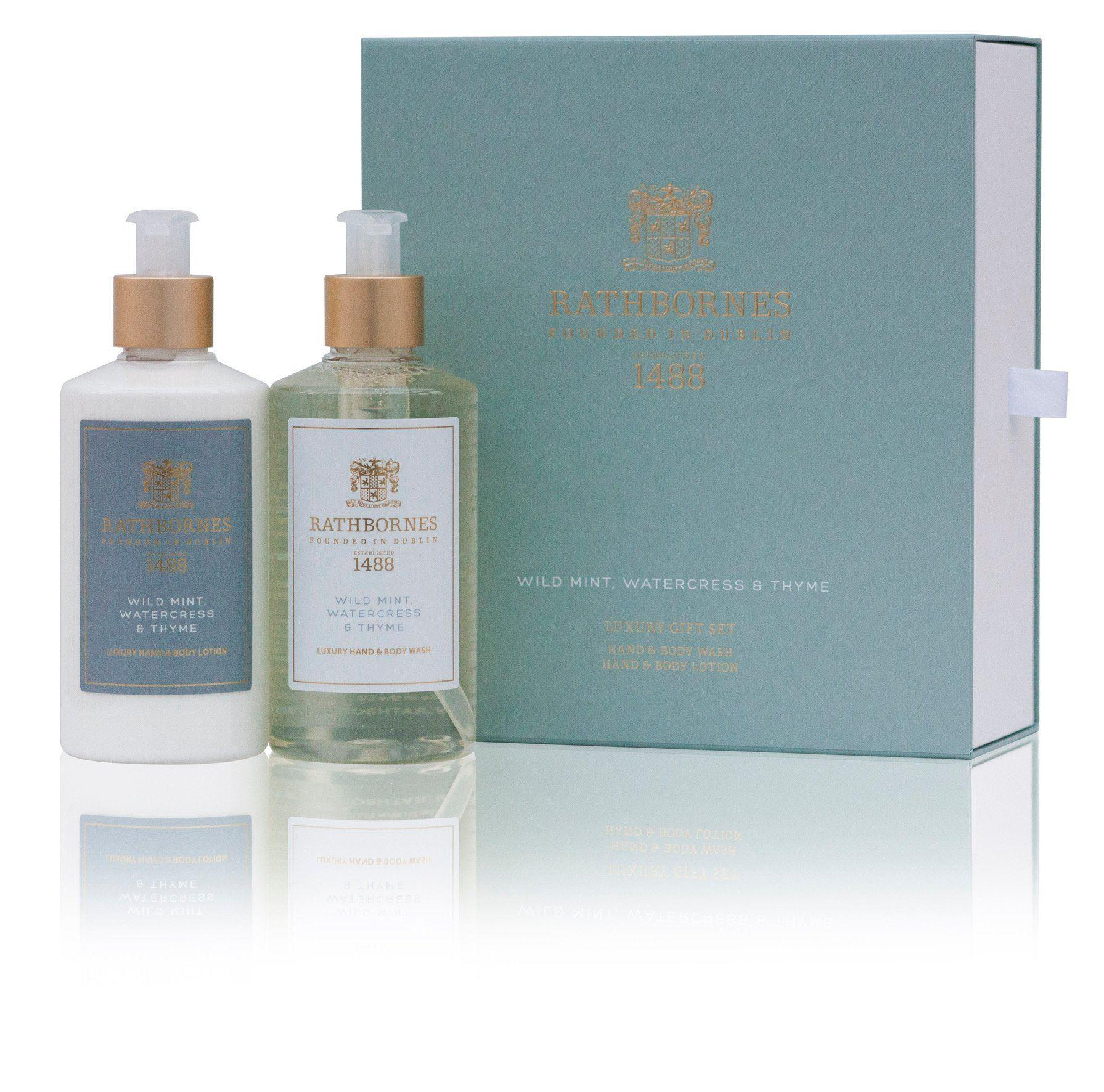 Rathbornes 1488 Wild Mint Hand & Body Gift Set (Hand/Body Wash & Lotion)