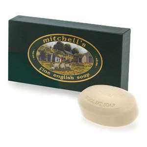 Mitchell's Wool Fat Soap Set of 3 Large Oval Soaps (Green Gift Box)