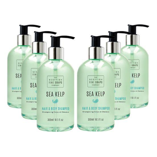 Scottish Fine Soaps Sea Kelp Hair & Body Shampoo Six Pack